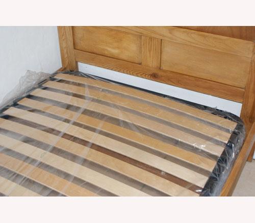 New single slatted bed base 100 x 190 cm 3 ft 3 for Single bed base