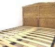 Adjustable Slatted Bed Base French Antique Wooden Double Beds
