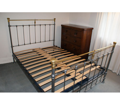 Adjustable Slatted Bed Base Antique French / Victorian Iron Metal Double Beds