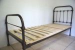 Single Iron Bed With Bespoke Slatted Base