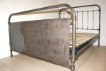 Industrial 4 ft 6 Double Bed French 1930s INCLUDES BASE