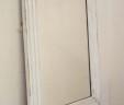 Large Antique French White Mirror Louis Philippe 77 cm x 104 cm