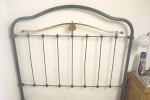 Antique French Bed Blue Grey Double