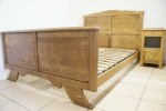 1930s French Double Bed INCLUDES BASE