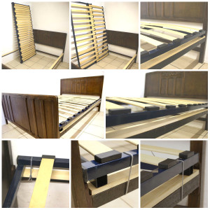 Vono Bed + Adjustable Slatted Bed Base