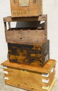 Vintage Crates and Trunks
