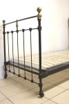 French Single 3ft Iron Black Bed INCLUDES BASE