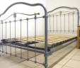 French Antique Bed 4 ft Blue Grey Renovated INCLUDES BASE