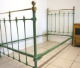 French Single Bed 3 ft 3 Green Renovated EXCLUDES BASE