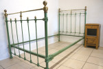 French Single Bed In Green RAL 6011