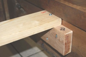 Wooden block brackets