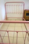 1930s French Iron Bed Pink RAL 3015