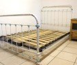 French Antique Small Double 4ft Iron Bed Shabby Chic INCLUDES BASE