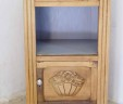 Antique French Bedside Cabinet With Grey Marble