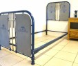 Antique French 3 ft Single Iron Bed Industrial Shabby Chic EXCLUDES BASE