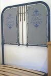 Antique French 3 ft Single Iron Bed Industrial Shabby Chic