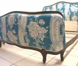 Vintage French Corbeille Double Bed Blue EXCLUDES BASE