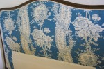 Vintage French Upholstered Double Bed