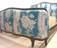 French Corbeille Double Bed Blue INCLUDES BASE