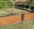 Twin Pair of French Bed 4 ft 6 Double Iron Beds EXCLUDES BASES