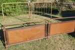 Pair French Double Iron Beds