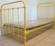 Antique French 3 ft Single Iron Bed Renovated INCLUDES BASE