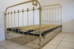 Antique Single Iron Bed With Base