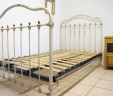 Antique French Bed Large Single INCLUDES BASE Awaiting Restoration