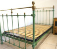 French Single Bed 3 ft 3 Green Renovated INCLUDES BASE