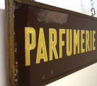 Antique French Chemist Shop Sign Glass PERFUME / PARFUMERIE Early 20th C