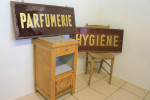 Antique Glass Perfume Sign