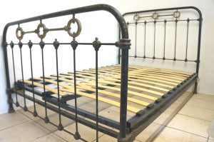 Antique French Double Iron Bed