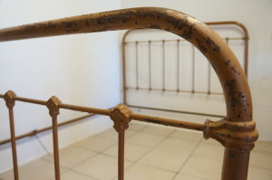 Antique French Double Iron Bed 3