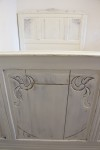 Antique French White 4ft Small Double ( Short ) Bed