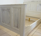 Antique French White 4ft Small Double ( Short 6ft ) Bed EXCLUDES BASE