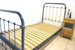 Antique French 3 ft 3 Single Iron Bed
