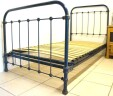 Antique French Single Bed 3 ft 3 Shabby INCLUDES BASE