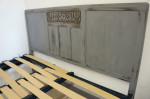 1930s British Standard Double Double Grey Bed And Base