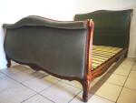 French Green Velvet Upholstered Bed