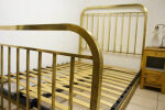 French Bed 1930s Brass Art Deco