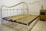 Antique French Bed White Double