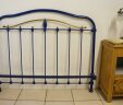 Antique French Bed Low Headboard 4ft Small Double Blue