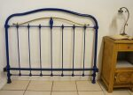 Antique French Iron Metal Bed Headboard