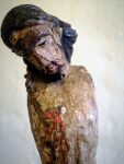 19th Century Wooden Painted Jesus Christ
