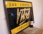 1950s French Glass VITOS Shop Sign