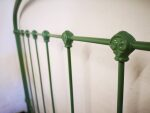 French Antique Iron Bed Green RAL 6011 (5)