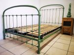 French Antique Iron Bed RAL 6011 Green
