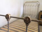 Antique French Bed 90 cm ( 3 ft ) Single Shabby W Slatted Bed Base