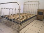 French Antique Bed 4 ft Small Double Shabby